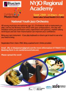 NYJO: Cumbria Jazz Academy @ North Lakes School, Penrith